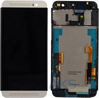 Дисплей (экраны) для телефона HTC One E8 Dual Sim + Touchscreen with frame Original White