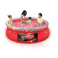Детский надувной цветной бассейн BestWay Тачки 244 см х 66 см