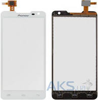 Сенсор (тачскрин) для Prestigio MultiPhone 5044 Duo, Pioneer S90W Original White