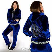 """Бархатный женский спортивный костюм """"Versace"""""""