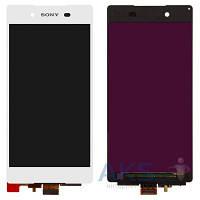 Дисплей (экран) для телефона Sony Xperia Z3+ E6533, Xperia Z4 DS E6553 + Touchscreen Original White