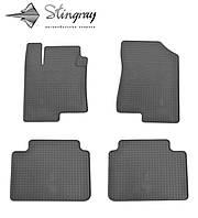 Stingray Модельные автоковрики в салон Хундай Соната  2005-2011 Комплект из 4-х ковриков (Черный)