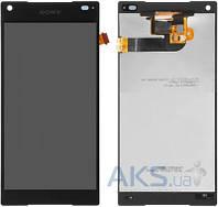Дисплей (экран) для телефона Sony Xperia Z5 Compact E5803, Xperia Z5 Compact E5823 + Touchscreen Black