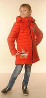 """Демисезонная удлиненная курточка для девочки """"Колибри"""""""