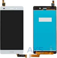 Дисплей (экраны) для телефона Huawei P8 Lite Dual Sim (ALE-L21) + Touchscreen Original White