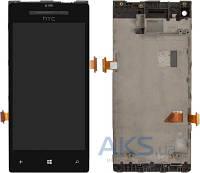 Дисплей (экраны) для телефона HTC Windows Phone 8X C620e + Touchscreen with frame Original Black