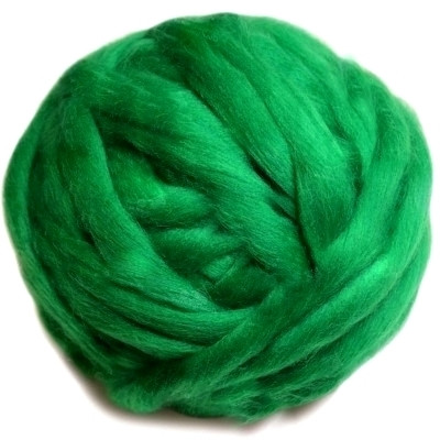 Вовна мериноса 22 мк, темно-зелена