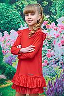 Нарядное детское платье Арина р.116-134 красный