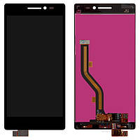 Дисплей (экран) для телефона Lenovo Vibe X2 + Touchscreen Black