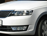 Ресницы передних фар Skoda Rapid 2012-