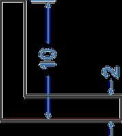 Алюминиевый уголок равносторонний 10x10x2
