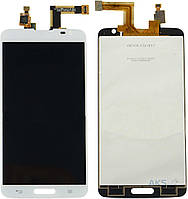 Дисплей (экраны) для телефона LG G Pro Lite D680, G Pro Lite D682 + Touchscreen Original White