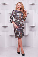 Женское платье большого размера с принтом Тэйлор серебро 52-58 размеры