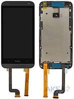 Дисплей (экраны) для телефона HTC Desire 601 315n + Touchscreen with frame Original Black