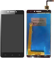 Дисплей (экран) для телефона Lenovo Vibe P1m + Touchscreen Original Black