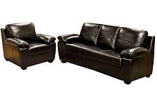 Шкіряний комплект меблів Колорадо (3+1), м'які меблі, меблі в шкірі, шкіряні меблі, комплект меблів, фото 3
