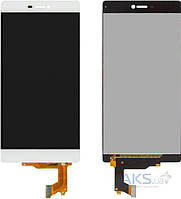 Дисплей (экран) для телефона Huawei P8 (GRA-L09) + Touchscreen Original White