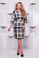 Женское платье большого размера  в клеточку Тэйлор 52-58 размеры
