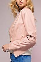 Куртка-жакет из искусственной кожи TOP розовая