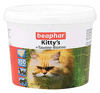 Кормовая добавка Beaphar Kitty's + Taurine-Biotine для кошек с биотином и таурином, 750 таб, фото 1