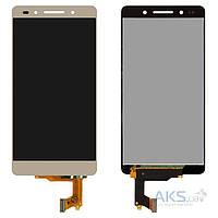 Дисплей (экран) для телефона Huawei Honor 7 + Touchscreen Gold