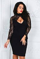 Красивое платье с гипюром большой размер 88340 (бат)