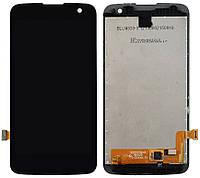 Дисплей (экран) для телефона LG K4 K120E, K121, K130E + Touchscreen Original Black