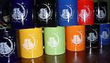 Чашки прозрачные матовые Frozen под деколирование, фото 7