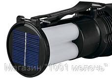 Фонарик YJ 2881T + солнечная панель + с Аккумулятором, фото 2