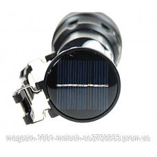 Фонарик YJ 2881T + солнечная панель + с Аккумулятором, фото 3