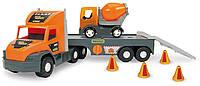 Машина Super Tech Truck с бетономешалкой, 78 см, Wader