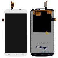 Дисплей (экран) для телефона Ergo SmartTab 3G + Touchscreen Original White