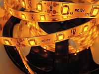 Светодиодная лента стандарт 2835-60 5-6 Лм IP65 в силиконе Желтый