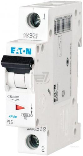 Автоматический выключатель EATON PL6-C20/1 (286534)