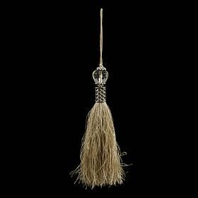Кисточка подвеска из шелк нити капуч+метал декор ,18 см