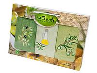 Набор махровых кухонных полотенец с вышивкой Оливки 30х50 см