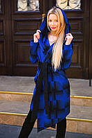 Пальто на запах с капюшоном и поясом в комплекте