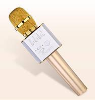 Караоке Микрофон со встроенным динамиком MicGeek Q9 (Беспроводной / Bluetooth) Золотой, фото 1