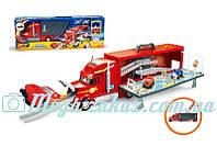 Игровой набор грузовик- автотрек Вспыш 828- 57 (паркинг вспыш): грузовик-трек + 2 машинки