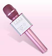 Караоке Микрофон со встроенным динамиком MicGeek Q9 (Беспроводной / Bluetooth) Розовый, фото 1