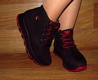 Модные демисезонные ботинки на шнурке (нубук)
