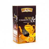 Чай черный Big active Pigwa Pomarancza (Биг актив черный с айвой и апельсином) 80 г. Польша