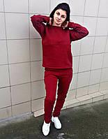 Спортивный костюм 3-х нитка бордовый без капюшона