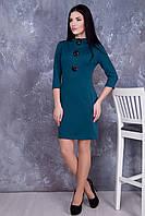 Красивое женское платье в 3х цветах IR Брошь, фото 1