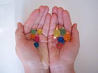 Гидрогель, цветные шарики заменитель грунта, растущие в воде шарики (орбиз)