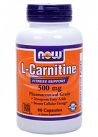 NOW л-карнитин L-Carnitine 500 mg (60 veg caps)