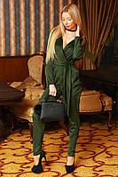 Элегантный замшевый комбинезон с карманами