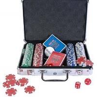 """Набор """"DUKE"""" для игры в покер в алюминиевом кейсе, 200 фишек."""