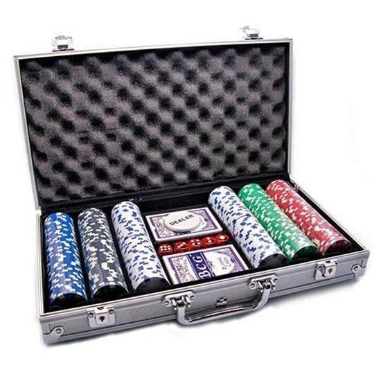 Набор -DUKE- для игры в покер в алюминиевом кейсе, 300 фишек. CG-11300