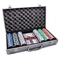 """Набор """"DUKE"""" для игры в покер в алюминиевом кейсе, 300 фишек."""